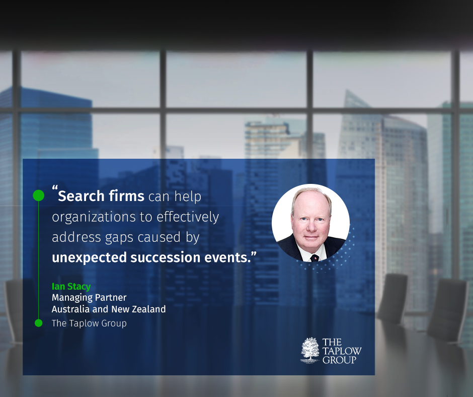 Ian Stacy - Managing Partner Australia and New Zealand, recently spoke about how search firms are an effective means to accomplish successful change with Shortlist Today.