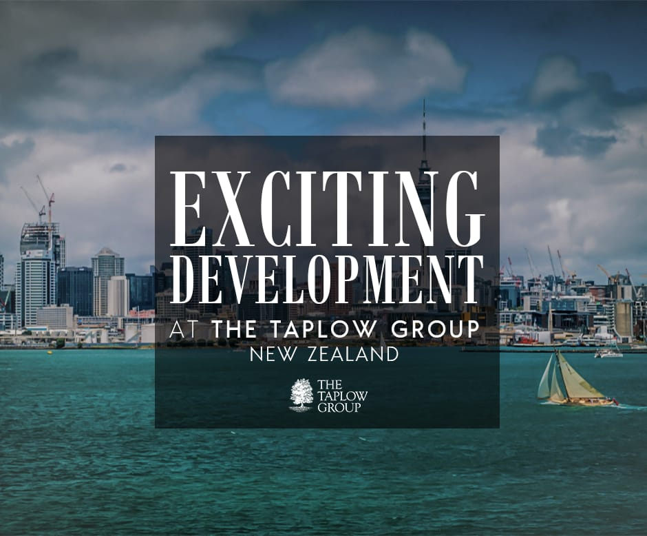 Exciting Devlopments at The Taplow Group New Zealand